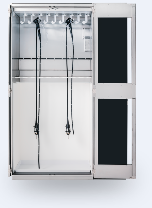 Scopes hanging in ChanlDry Drying Cabinet