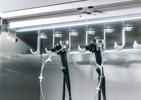 Endoscope drying cabinet air connections